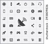 simple hi tech icons set....