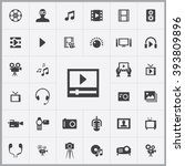 simple multimedia icons set....