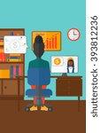 business video negotiations. | Shutterstock .eps vector #393812236