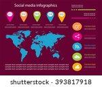 social media infographic... | Shutterstock .eps vector #393817918