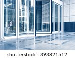 entrance of modern office... | Shutterstock . vector #393821512