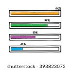 hand drawn vector progress bar. ... | Shutterstock .eps vector #393823072
