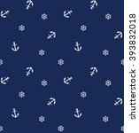 navy vector seamless pattern ... | Shutterstock .eps vector #393832018