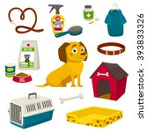 Dog Care Object Set  Items And...