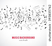 abstract musical frame and... | Shutterstock .eps vector #393835762