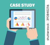 case study concept vector with... | Shutterstock .eps vector #393840256