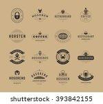 vintage logos design templates...   Shutterstock .eps vector #393842155