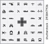simple transportation icons set.... | Shutterstock .eps vector #393847936