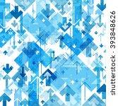 blue arrows chaotic pattern....   Shutterstock .eps vector #393848626