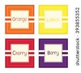 orange  lemon  cherry and berry ...   Shutterstock .eps vector #393855352