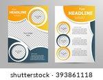 vector flyer template design.... | Shutterstock .eps vector #393861118