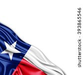 texas flag of silk with... | Shutterstock . vector #393865546