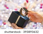 woman discovers a smartwatch in ... | Shutterstock . vector #393893632