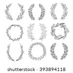 the set of hand drawn vector... | Shutterstock .eps vector #393894118