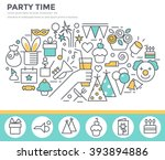 party time concept illustration ... | Shutterstock .eps vector #393894886