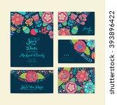 wedding invitation template ... | Shutterstock .eps vector #393896422