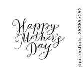 happy mother's day card with... | Shutterstock .eps vector #393897292