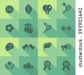 vector flat icon set   sport  | Shutterstock .eps vector #393901642