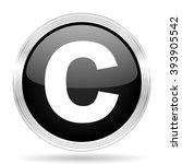 copyright black metallic modern ... | Shutterstock . vector #393905542