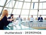 team of business people... | Shutterstock . vector #393909406
