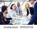 positive business team working...   Shutterstock . vector #393910726