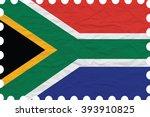 wrinkled paper south africa... | Shutterstock . vector #393910825