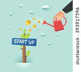 start up business growth... | Shutterstock .eps vector #393917596