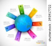 colorful paper infographic... | Shutterstock .eps vector #393917722