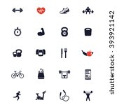 20 fitness icons  active... | Shutterstock .eps vector #393921142