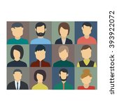 people set icons | Shutterstock .eps vector #393922072