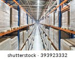huge distribution warehouse... | Shutterstock . vector #393923332