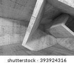 Abstract Dark Concrete Interio...