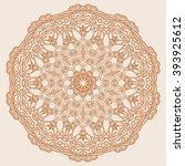 mandala. round ornament pattern ... | Shutterstock .eps vector #393925612