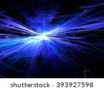 abstract bright blue technology ... | Shutterstock . vector #393927598