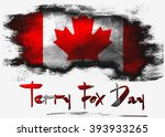 Flag of Canada for Terry Fox Day with white background