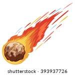 comet falling down fast... | Shutterstock .eps vector #393937726