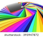 car wrapping film color palette ... | Shutterstock . vector #393947872