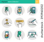 payment icons collection 1.... | Shutterstock .eps vector #393960202