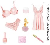 underwear isolated female. | Shutterstock . vector #393963328