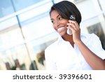 a pretty african american... | Shutterstock . vector #39396601