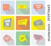 thank you vector  appreciation...   Shutterstock .eps vector #393974665
