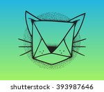 cartoon tattoo pointillism... | Shutterstock .eps vector #393987646