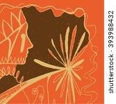 vector illustration of orange   ... | Shutterstock .eps vector #393988432