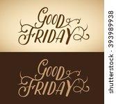 good friday  vector illustration | Shutterstock .eps vector #393989938