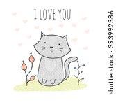 Cute Hand Drawn Doodle Card...