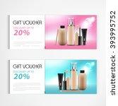 gift voucher cosmetics lotion... | Shutterstock .eps vector #393995752