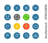 interface color pictograms... | Shutterstock .eps vector #394010896
