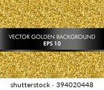 gold foil glitter vector... | Shutterstock .eps vector #394020448