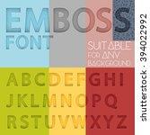 alphabet with emboss effect... | Shutterstock .eps vector #394022992
