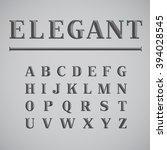 elegant ink saver character set ... | Shutterstock .eps vector #394028545